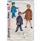Simplicity 4455 Pattern Vintage Boys Coat, Hat And Leggings