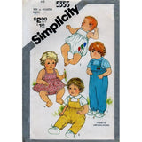 Simplicity 5355 Pattern Vintage Babies Overalls in two lengths, Shirt, Sundress And Bloomers