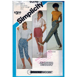 Simplicity 6396 Pattern Misses Pull-On Pants In Two Lengths And Shorts - Vintage Pattern - Simplicity - SharPharMade - 1