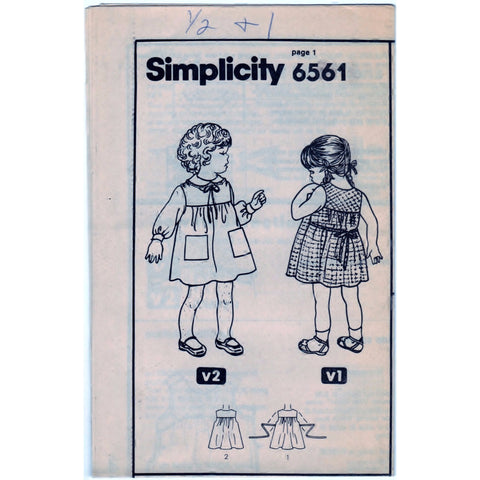Simplicity 6561 Pattern Toddlers Sundress and Jumper - Vintage Pattern - Simplicity - SharPharMade - 1