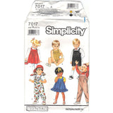 Simplicity 7017 - Toddlers' Overalls in Two Lengths, Sundress, Jumper and Bubble Suit Pattern - Vintage Pattern - Simplicity - SharPharMade - 5
