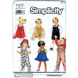 Simplicity 7017 - Toddlers' Overalls in Two Lengths, Sundress, Jumper and Bubble Suit Pattern - Vintage Pattern - Simplicity - SharPharMade - 1