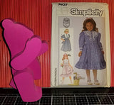 Simplicity 7407 Pattern Vintage Child Dress