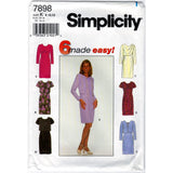 Simplicity 7898 Pattern Vintage Misses Miss Petite Dress