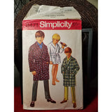 Simplicity 8471 Pattern Vintage Boys Robe In Two Lengths