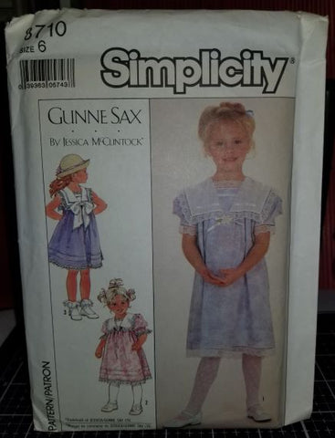 Simplicity 8710 Pattern Vintage Child Dress In Two Lengths