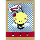 Smiling Bee Angel Handmade Good Greeting Supply Card - Cards And Other Paper Products - Made In U.S.A. - SharPharMade - 1