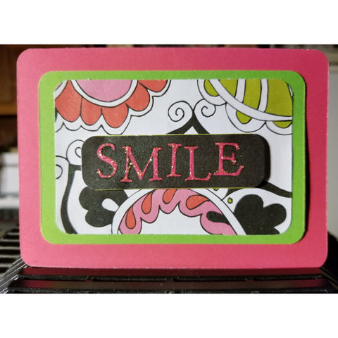 Smile Handmade Good Greeting Supply Card CLEARANCE