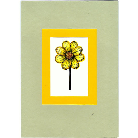 Sunflower INKED Handmade Good Greeting Supply Card - Cards And Other Paper Products - Made In U.S.A. - SharPharMade - 1