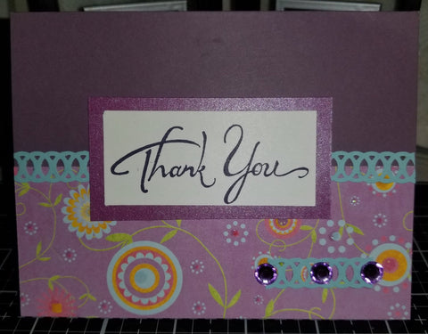 Thank You Handmade Good Greeting Supply Card CLEARANCE