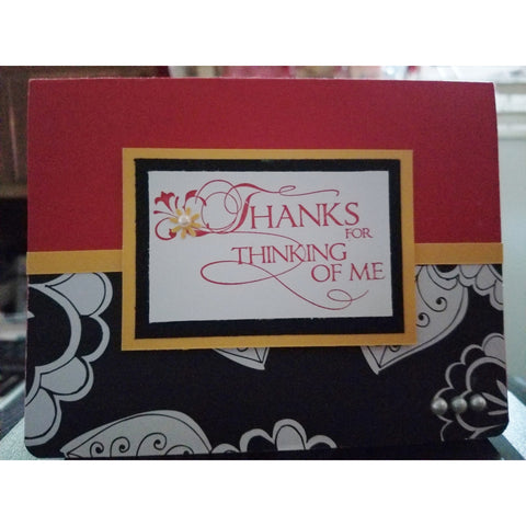 Thanks For Thinking Of Me Handmade Good Greeting Supply Card CLEARANCE