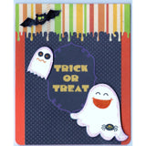 Halloween Trick or Treat Handmade Good Greeting Supply Card - Cards And Other Paper Products - Made In U.S.A. - SharPharMade - 1