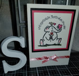 Unforgettable Elephant Elle Handmade Good Greeting Supply Card CLEARANCE