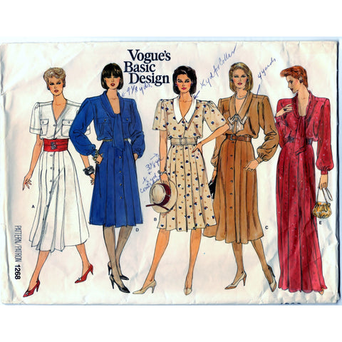 Vogue Basic Design 1268 Pattern Vintage Misses Dress