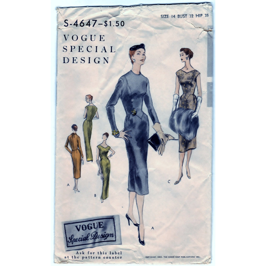 Vogue Special Design S-4647 Pattern Vintage One Piece Dress