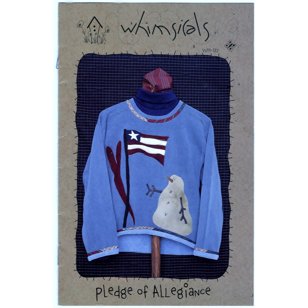 Pledge of Allegiance Flag Snowman Designer Non-Vin Kit/ Pattern