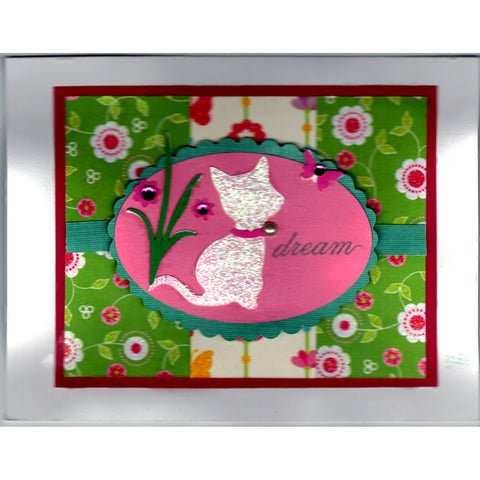 You Dream Cat Handmade Good Greeting Supply Card - Cards And Other Paper Products - Made In U.S.A. - SharPharMade - 1