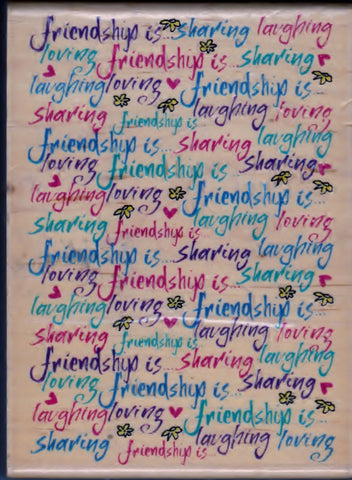 Inkadinkado Rubber Stamp Friendship