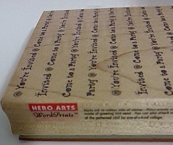 Hero Arts Rubber Stamp You're Invited Come To A Party WordPrint Background