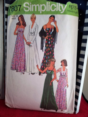 Simplicity 7807 Pattern Vintage Misses Dress And Unlined Jacket