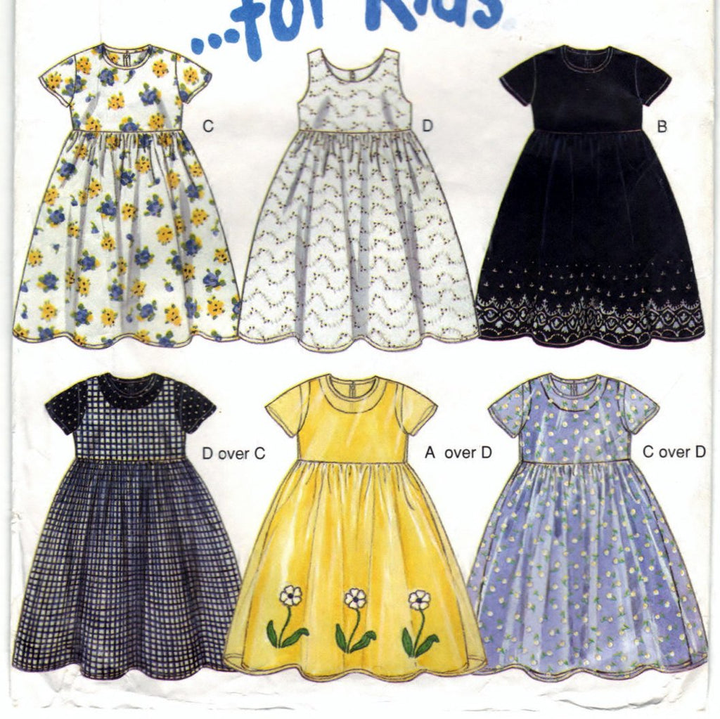 New Look 6850 Pattern Non-Vin Kids Dresses And Robes
