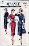 Advance 8042 Pattern Vintage Misses and Womens Sheath Dress