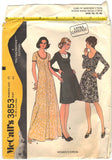 McCalls 3853 Pattern Vintage Women Dress