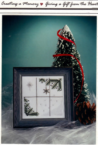"The Last Snowflake Pattern Non-Vintage Kit For Stitchers' Sake Limited Edition Finished Size 4 1/4"" x 4 1/4"" Craft Tool"
