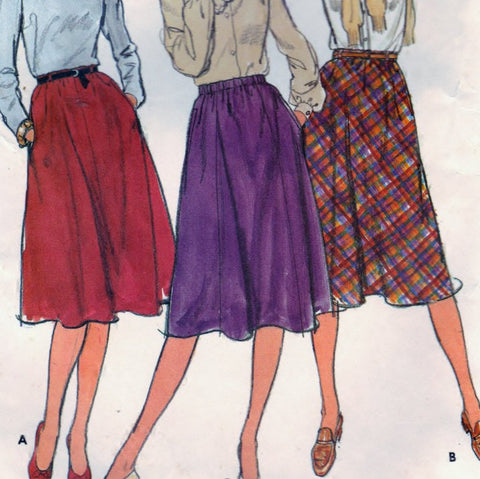 Butterick 3496 Pattern Vintage Misses Skirts