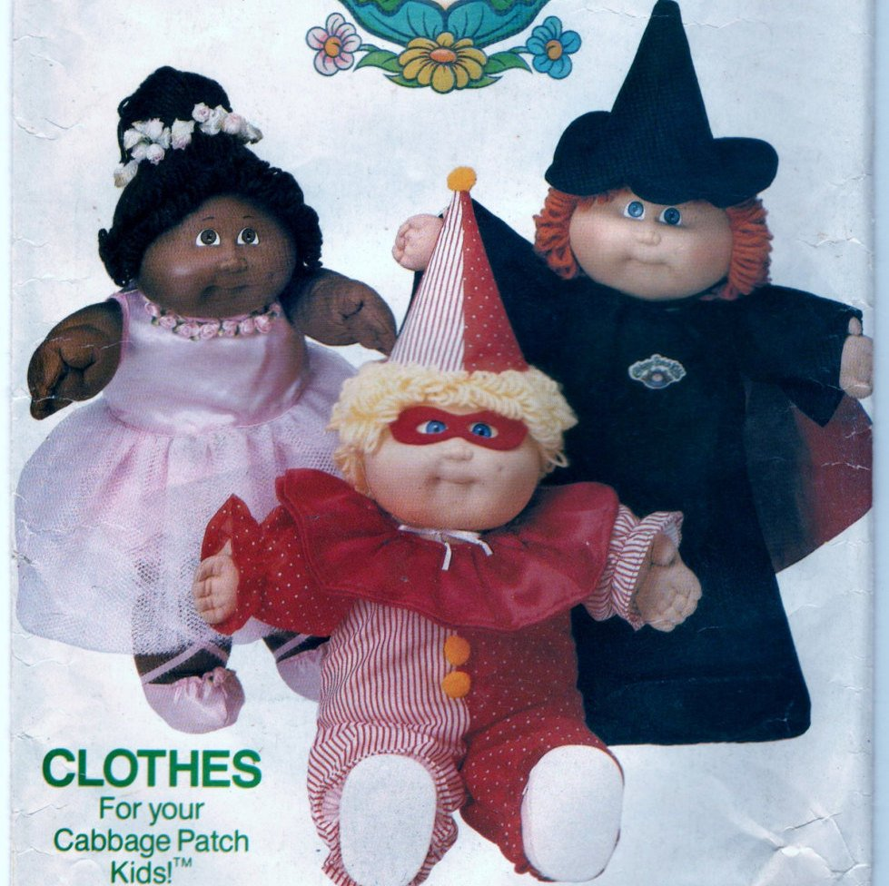 Butterick 344 Pattern Vintage Halloween Costumes For 16 Inch Soft Sculptured Dolls
