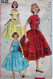 Simplicity 1852 Pattern Vintage Teen Age One Piece Dress