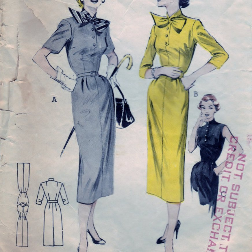 Butterick 6577 Pattern Vintage Tailored Dress