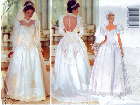 Butterick 3839 Pattern Vintage Misses Wedding Dress