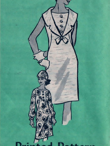 Anne Adams 4936 Pattern Vintage Junior Miss Dress