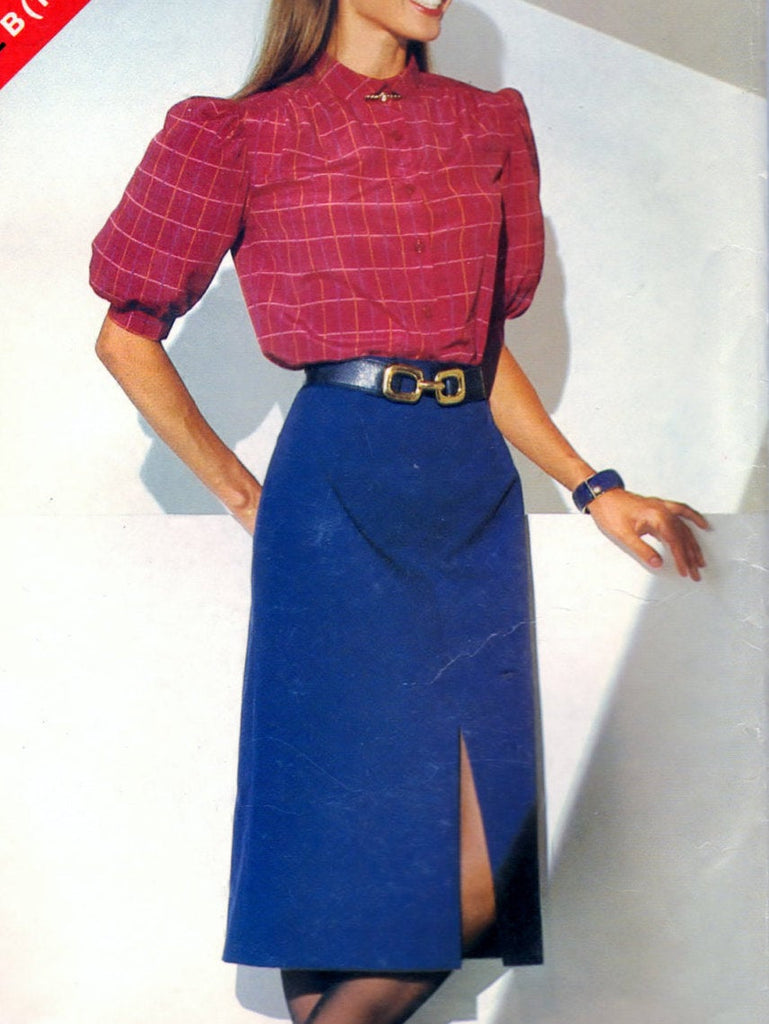 Butterick See & Sew 5116 Pattern Vintage Misses Blouse Skirt