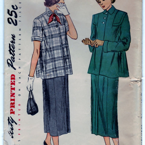Simplicity 2689 Pattern Vintage Two Piece Maternity Suit