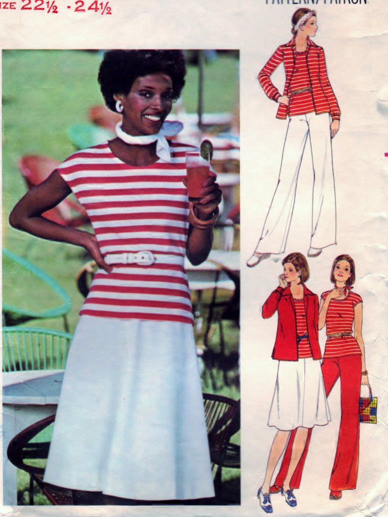 Butterick 4746 Pattern Vintage Half Size Shirt, TShirt, Skirt, And Pants