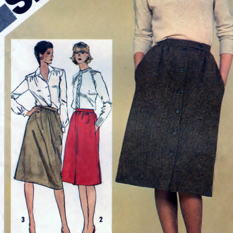 Simplicity 9789 Pattern Vintage Slim Fitting Skirts