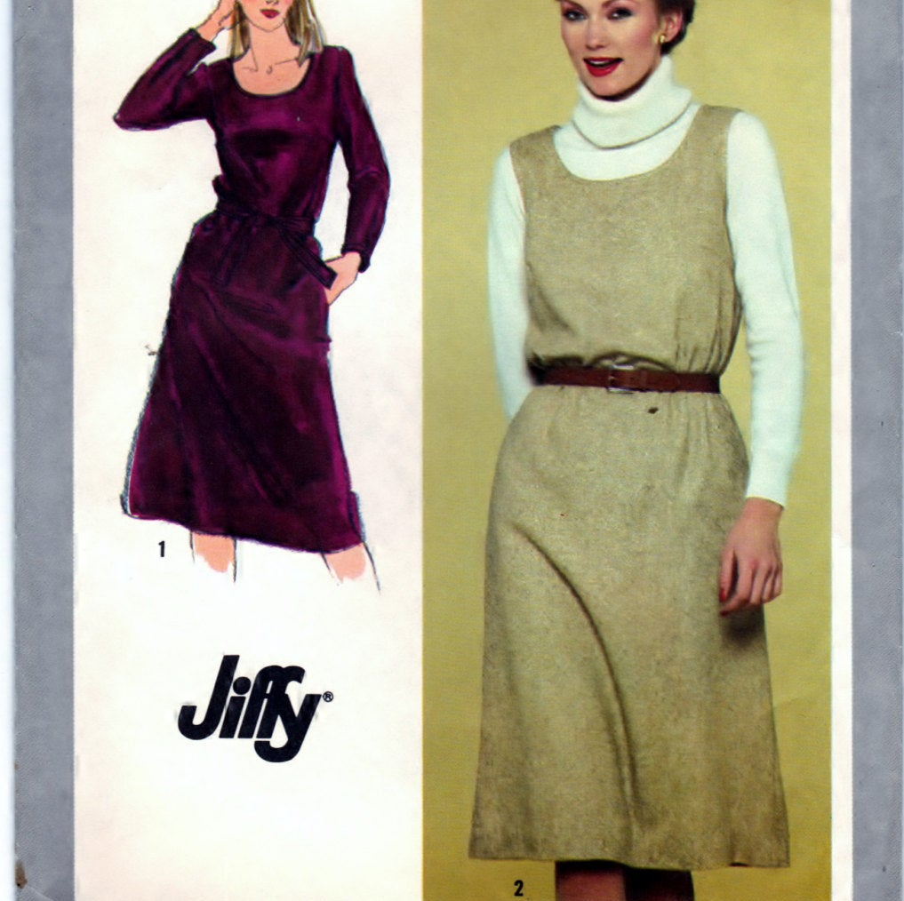Simplicity 9602 Pattern Vintage Jiffy Pullover Dress or Jumper