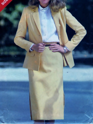 Butterick See and Sew 3020 Pattern Vintage Misses Jacket And Skirt
