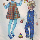 McCall's 2098 Pattern Vintage Toddler's Jumper and Coveralls