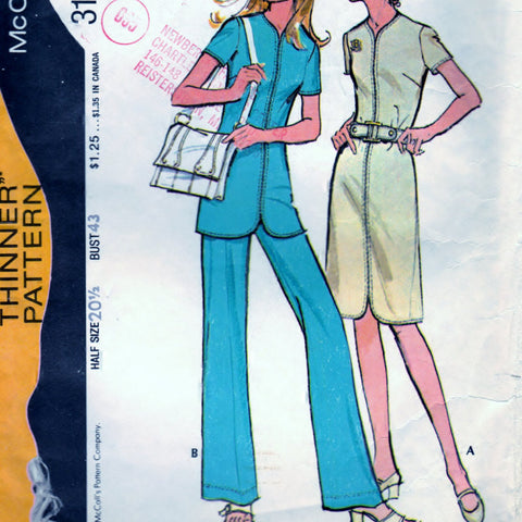 McCalls 3159 Pattern Vintage Dress, Tunic, and Pants
