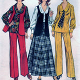 Simplicity 5302 Pattern Vintage Misses and Women's Blouse, Skirt, Vest, Pants