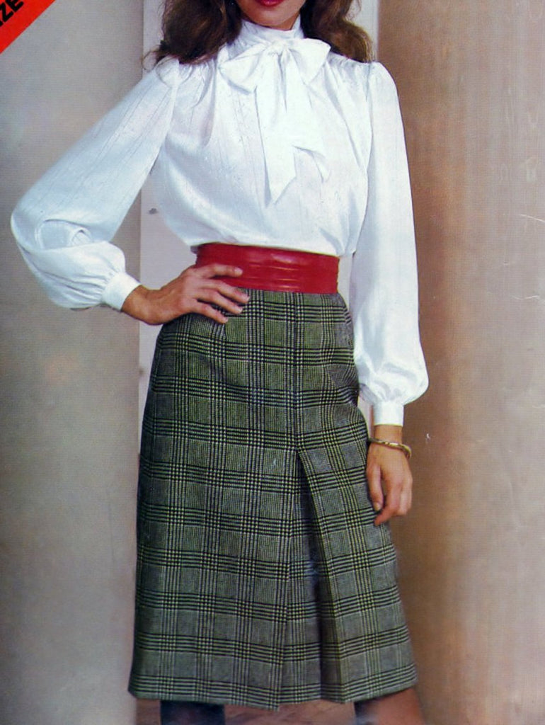 Butterick See and Sew 5081 Pattern Vintage Misses Blouse and Skirt