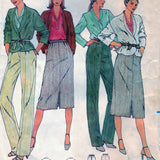 Butterick 6380 Pattern Vintage Misses Jacket, Top, Skirt & Pants