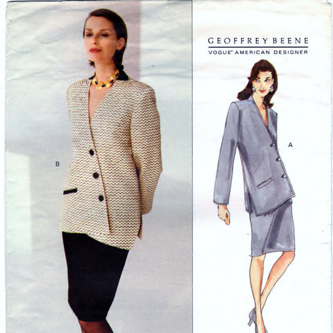 Vogue 1332 Pattern Vintage Misses Jacket and Skirt