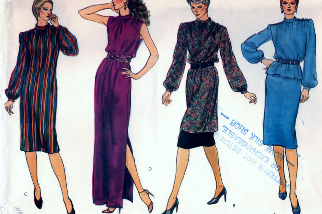 Very Easy Vogue 8076 Pattern Vintage Misses Dress, Tunic, Top, and Skirt