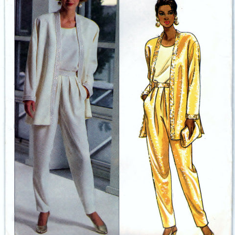 Butterick 6276 Pattern Vintage Misses Evening Separates Longer Jacket & Pull-On Pants