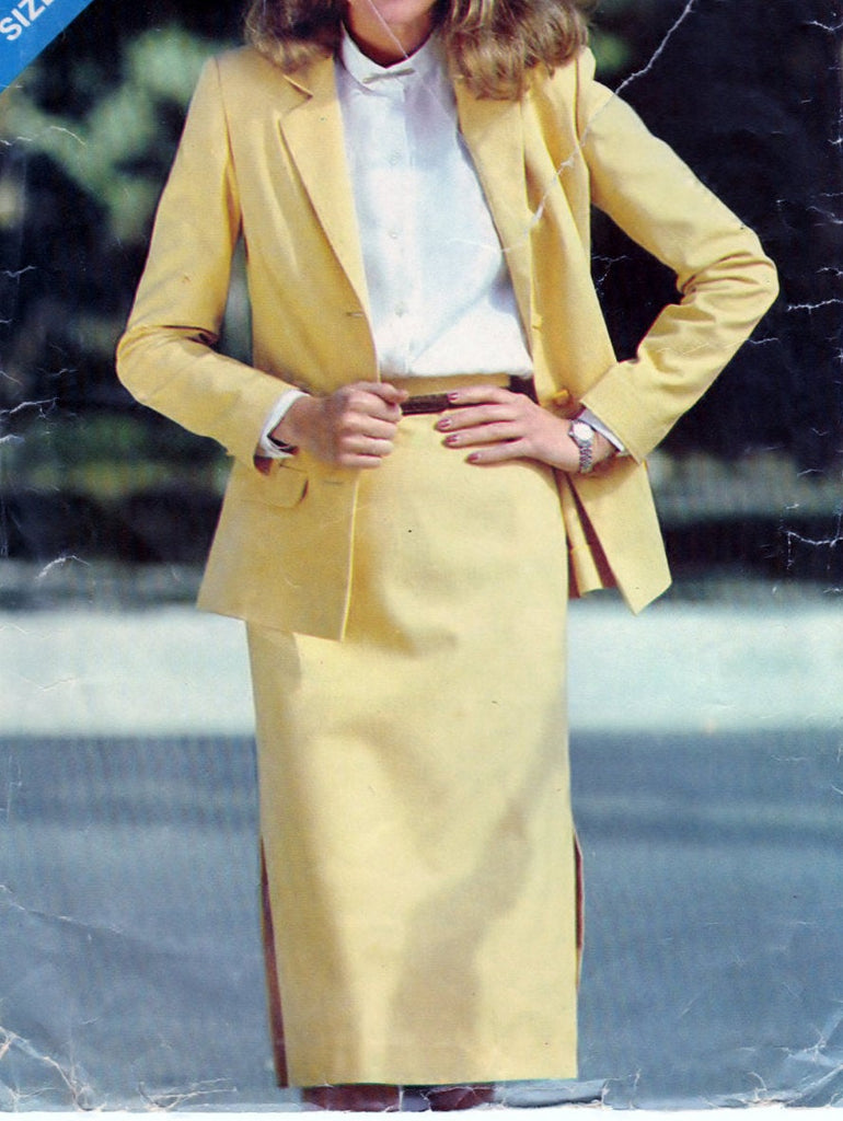 Butterick See & Sew 3020 Vintage Misses Jacket and Skirt