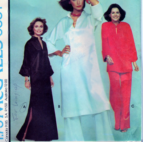McCalls 5331 Pattern Vintage Misses Dress, Tunic or Top and Pants